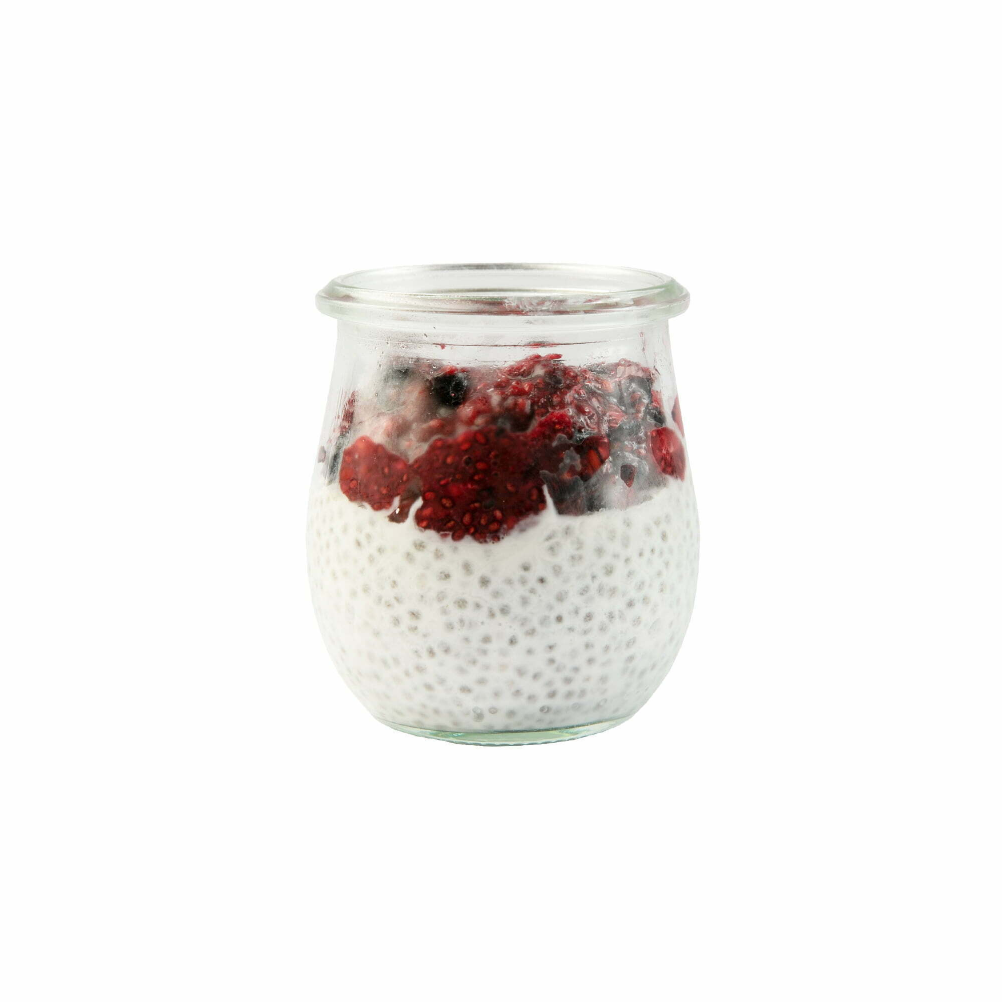 Red Fruit Chia Pudding