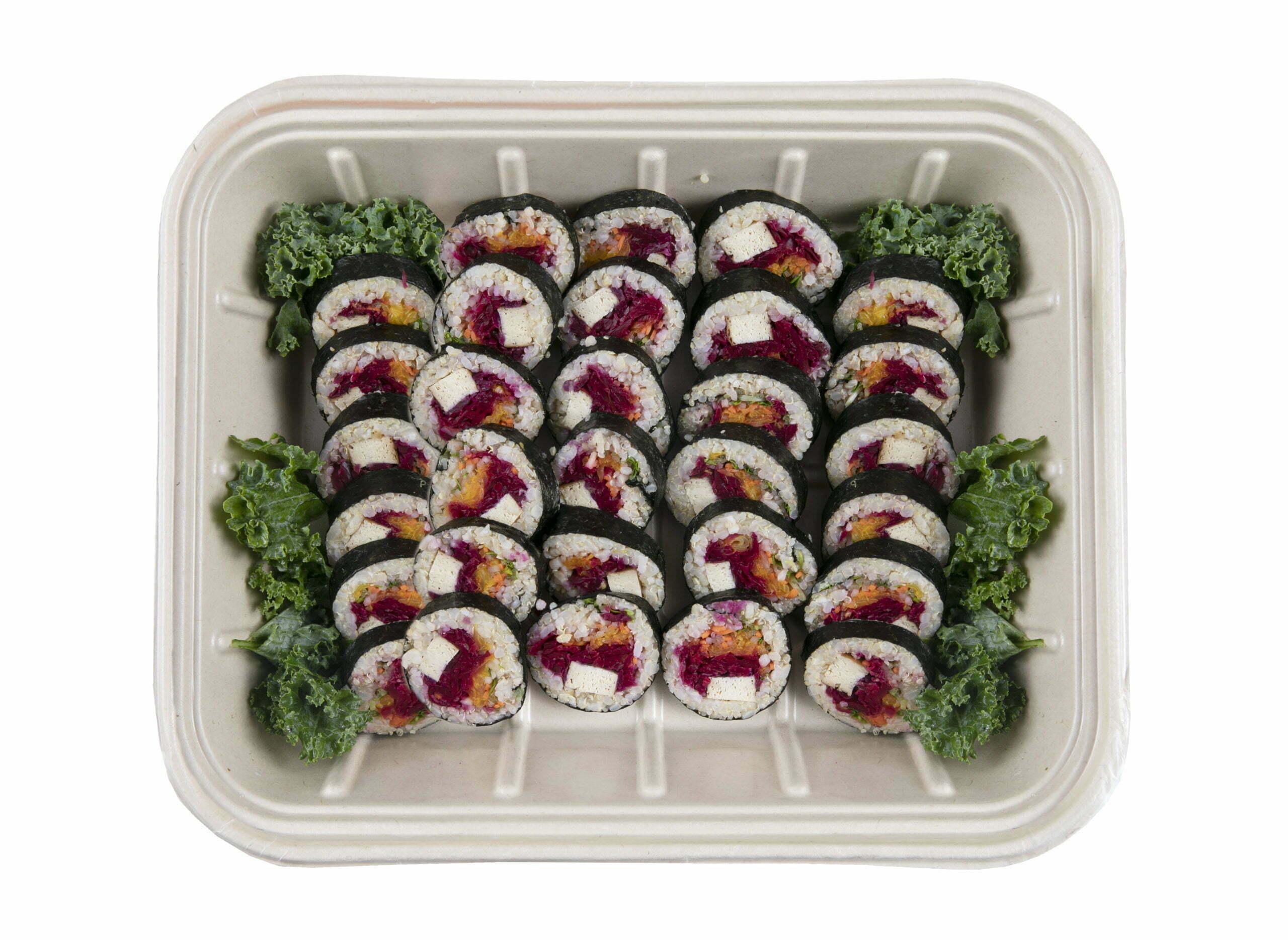 Le Botaniste Catering Veggie sushi roll